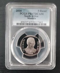 South Africa Proof 5 Rand Coin 2000 Year Nelson Mandela Km230 Pcgs Pr67dcam