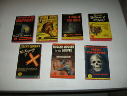 7 Vintage Pocket Book Mystery Pbs - 1940s - Free Ship In Usa