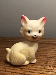 """Vintage Cat 🐈 Squeeky Toy 3"""" Cute Works Rare"""