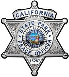 Calif. State Parks Peace Officer Personalized Bad All Metal Sign W/ Badge