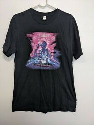 Muse Music Concert Shirt Simulation Theory 2019 Tour Dates Double Sided Sz L