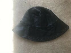 Wilsons Leather Black Bucket Hat Size S M $23.00