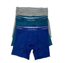 NEW*Calvin Klein Men#x27;s 3 Pack Microfiber Stretch Trunk Boxer Briefs Assorted $27.99