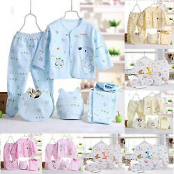 5PCS Newborn Girl Boy Clothes 0 3 Months Baby Outfits Pants Gifts Layette Set $12.69