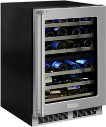 Marvel Professional Series Mp24wdg5rs 24 Inch Dual Zone Wine Refrigerator With 4