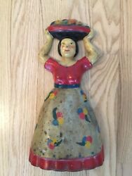 Tropical Woman With Fruit Doorstop Numbered 1000 Early 1900's