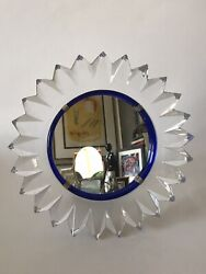 Fine Lalique Crystal Glass Janina Mirror -signed- 1955 French Art Nouveau Modern