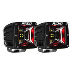 Rigid Industries Radiance Scene Lights Surface Mount Pair Black W/red Led Bac...