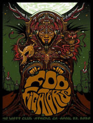 Foo Fighters Poster 4/22/2020 Athens Ga Signed And Numbered /100 Artist Ed