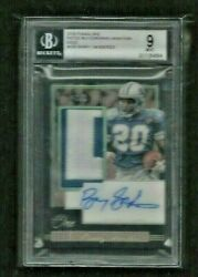 Barry Sanders 2018 Panini One GOLD Prime Patch Auto #1 3 ON CARD BGS 9 MINT READ $2000.00