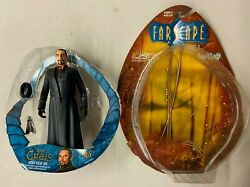 Loose Farscape Action Figure Captain Bialar Crais With Accessories And Box