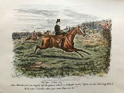 1886 Antique Print Hunting Print Oh Yes I Dare Say.. After George Finch-mason