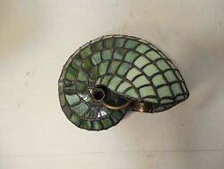 Quality Stained Glass Nautilus Shell Lamp Shade.