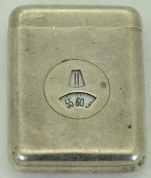 Extremely Rare Art-deco Clarte For Hermes Digital Silver Purse Watch C1930