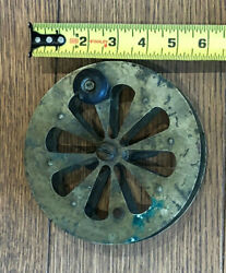 Vintage Salmon -sal-trout Fly Fishing 6 Antique Reel Side Mount And Wood Handle