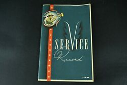 Vintage 1942 Navy Service Record Book The Gerlach-barlow Co. Military Unused