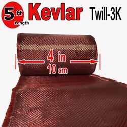 4 In X 5 Ft - Made With Kevlar-carbon Fiber Aramid Fabric - 3k/2k-200g/m2