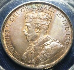 1917 Canada Fifty Cents Pcgs Au 55