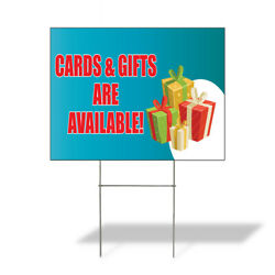 Weatherproof Yard Sign Cards And Gifts Are Available Aqua-blue Lawn Garden