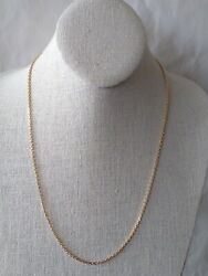 18k Solid Yellow Gold Necklace 22l. 21b13