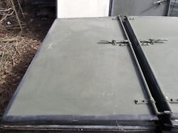 One....military Surplus Isu Door --left Side-- Storage Shipping Container Army