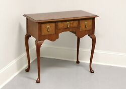 Baker Inlaid Mahogany Queen Anne Style Side Table