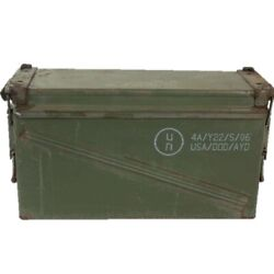Military Army Surplus Issued 40mm Ammo Box Metal Storage Container Tool Box