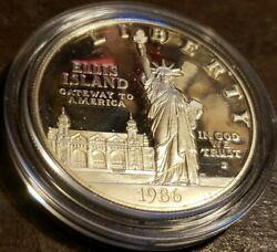 1986-s Statue Of Liberty Commemorative Silver Dollar Proof In Us Mint Packaging