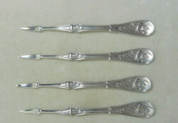 Rare And Co Sterling Japanese Pattern Nut Picks 4 And 7/8th Inches No Mono