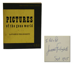 Pictures Of The Gone World Lawrence Ferlinghetti Signed First Edition 1st 1955