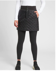 Athleta Black Quilted Lodge Skirt 4 New Travel Commute