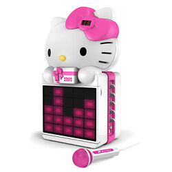 Hello Kitty Cd+g Karaoke System With Led Light Show And P3mp4+g Playback