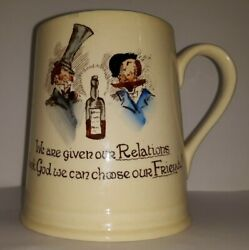 Art Deco Carlton Ware Pottery Tankard We Are Given Our Relations......rhyme