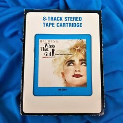 Madonna Whoand039s That Girl 8-track Cartridge Tape Sire 1987 No Promo