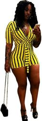 Mintsnow Womenand039s Summer Romper Boho Playsuit African Print Jumpsuits Beach Outfi