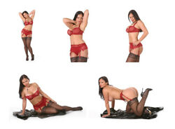 Stockings Set 3 Aria Giovanni Five Glossy Photos 7x5 Inches