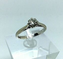 18ct White Gold 0.40ct Solitaire Diamond Engagement Ring With Valuation