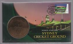 2019 Australia Sydney Stamp And Coin Expo - Pnc Medallion Cricket Ground Scg Day 3