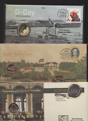 2019 Australia Sydney Stamp And Coin Expo - Pnc Rum Wrong Coin Versailles D-day