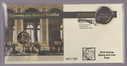 2019 Australia Sydney Stamp And Coin Expo Ovpt - Pnc Versailles Treaty Centenary