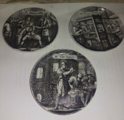 Lot Of 3 Three Miniature Pin/ German Souvenir Dishes/ 3 Porcelain Pin Dishes