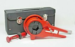 40 - 110 Mm Plastic Pipe Cutter And Chamfering Tool For Pp-r Hdpe Pipes W/ Stand