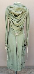 Ultra Rare Greg Lauren Womenand039s Green Army Tent Quilted Dragon Parka Sz 2 M Nwt