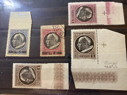 Collection Of Vatican Stamp Variety 4 Mnh One Used