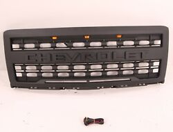 Fit Chevrolet Silverado 1500 2014 2015 Front Grille With 3 Amber Lights And Letter