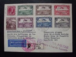 Luxembourg 1939 Airmail Full Cover To Canary Islands Hiv