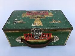 Scarce English Pall Mall Litho Store Display Cigarette Tin In Good Condition