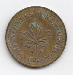 Clown Face And Maple Leaf Games Token For Vintage Amusement Arcade- R102