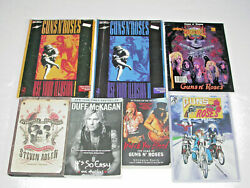 Guns N' Roses Collection Lot Books Comics Signed Autographed Book Guitar Tab W@w