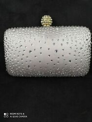 Victoria Delef Rhinestone Evening Clutch for Cocktail Prom Party $15.00